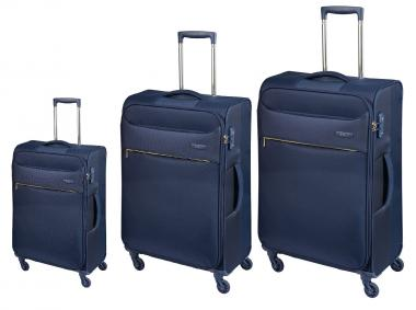 d&n Travel Line 63 Trolley-Set 6304 4R, 3-tlg. S/M/L blau