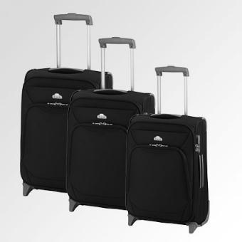 d&n Travel Line Trolley-Set 3-teilig, 2-Rollen, S/M/L- 6100 rot