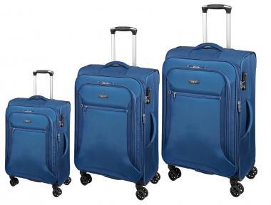 d&n Travel Line 64 Trolley-Set 6404 4R, erweiterbar, 3-tlg. S/M/L blau