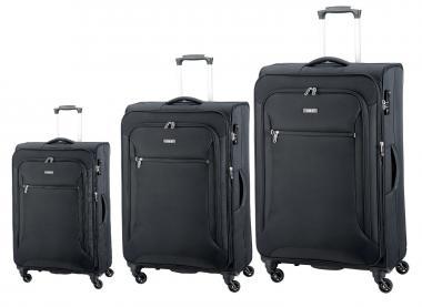 d&n Travel Line 64 Trolley-Set 6404 4R, erweiterbar, 3-tlg. S/M/L schwarz