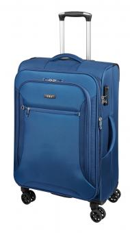 d&n Travel Line Trolley L 4-Rollen- 6474 blau