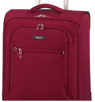 d&n Travel Line 64 Trolley M 4R, erweiterbar 68cm 6464 bordeaux