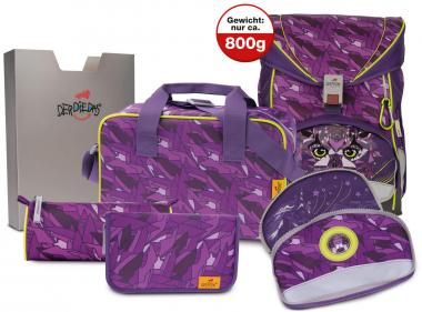 "DerDieDas Ergoflex Exklusiv Schulranzen-Set ""Switch"", 5-teilig Purple"