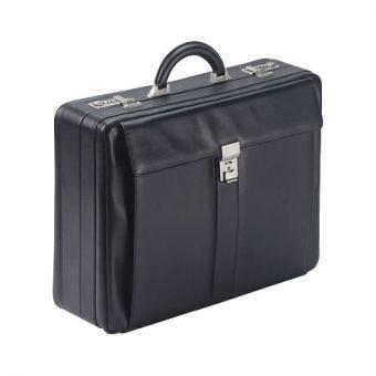 Dermata Leder Fächerkoffer 1245A schwarz