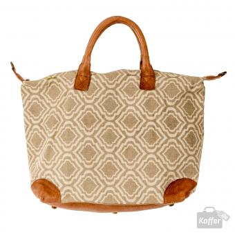 Desiderius Marcelina Klarine taupe canvas/rose leather