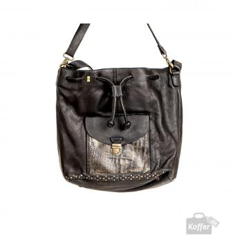 Desiderius Mons Therese Rindsleder Beuteltasche Black