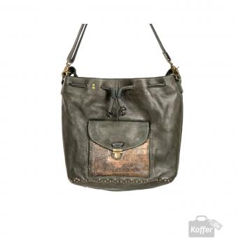 Desiderius Mons Therese Rindsleder Beuteltasche Dark Olive