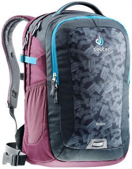 """Deuter GIGA Rucksack School & Daypack 15,6"""" granite brush-blackberry"""