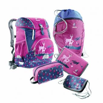 Deuter School OneTwo Set - Sneaker Bag, 5-teilig magenta-deer