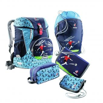 Deuter School OneTwo Set - Sneaker Bag 5-teilig navy-soccer