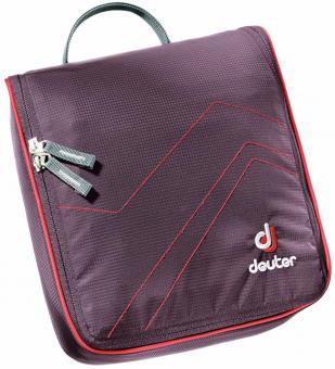Deuter Wash Bag Wash Center II Kulturbeutel aubergine-fire