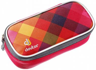Deuter School Pencil Case Mäppchen berry crosscheck