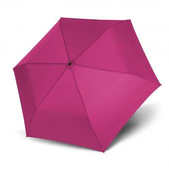 doppler Zero Magic Leichtester Auf-Zu Automatik Taschenschirm uni pink