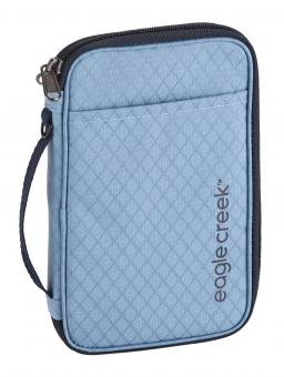 Eagle Creek Travel Security RFID Travel Zip Organizer Artic Blue
