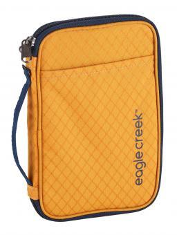 Eagle Creek Travel Security RFID Travel Zip Organizer Sahara Yellow
