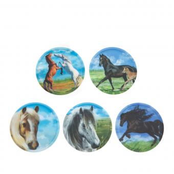 ergobag Kletties Klettie-Set matt, 5-teilig Pferde
