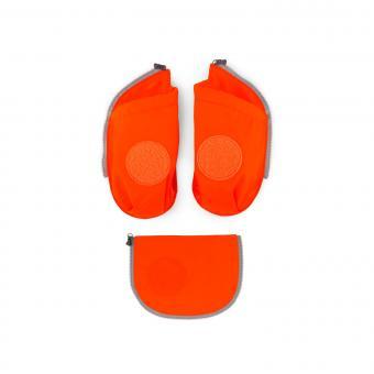 ergobag Schulzubehör cubo Seitentaschen Zip-Set, 3-tlg. 2019 orange