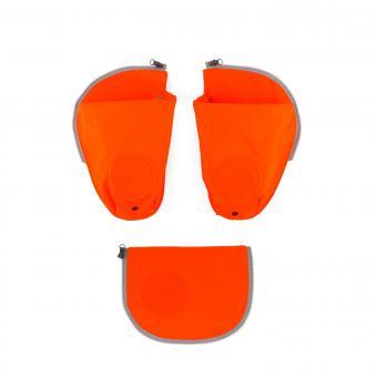 ergobag Schulzubehör pack Seitentaschen Zip-Set, 3-tlg. orange