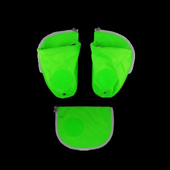 ergobag Schulzubehör Seitentaschen Zip-Set, 3-tlg. 2020 Grün