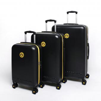 Fußball-Bundesliga Borussia Dortmund 4-Rollen Trolley Koffer-Set S/M/L schwarz