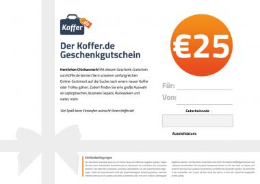 €25 Geschenkgutschein Allgemein