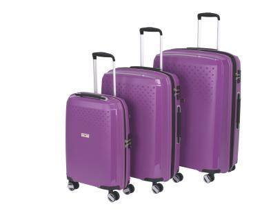 Hardware Bubbles 2018 3-teiliges Trolley-Set purple