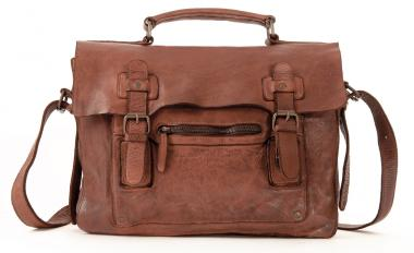 Harold's Submarine Aktentasche Briefbag cognac