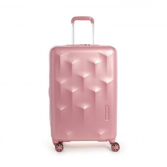 Hedgren Edge Carve M Expandable 4-Rollen-Trolley 67cm Blush