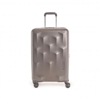 Hedgren Edge Carve M Expandable 4-Rollen-Trolley 67cm Dark Champagne
