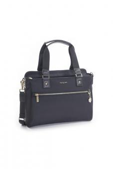 """Hedgren Charm Appeal Handbag 13"""" Black"""