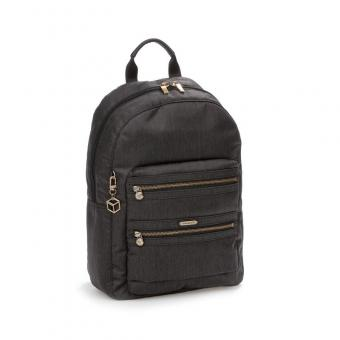 Hedgren Inner City Avenue GALIA Backpack 2 Zippers jet black