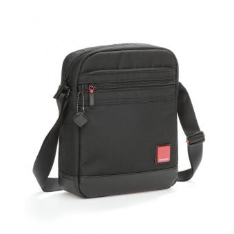 "Hedgren Red Tag DESCENT Vertical Shoulder Bag mit Tabletfach 9"" Black"