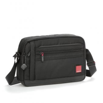 "Hedgren Red Tag ENGINE Horizontal Shoulder Bag mit Tabletfach 12"" Black"