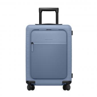 Horizn Studios Smart M5 VEGAN Cabin Trolley mit Fronttasche Blue Vega