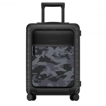 Horizn Studios Smart M5 VEGAN Cabin Trolley mit Fronttasche Black Camouflage