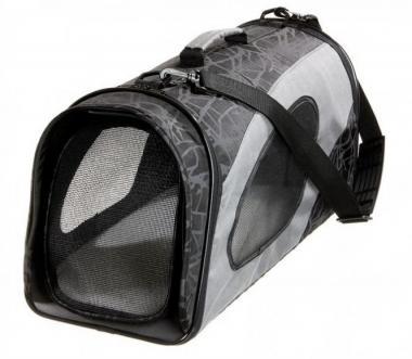 Karlie Flamingo Smart Carry Bag Faltbare Transporttasche S für Katzen und kleine Hunde Schwarz