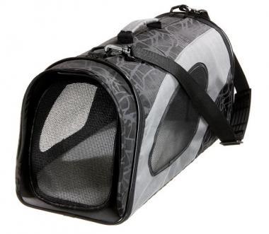 Karlie Flamingo Smart Carry Bag Faltbare Transporttasche L für Katzen und kleine Hunde Schwarz