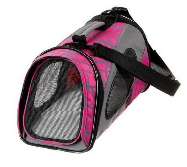 Karlie Flamingo Transporttasche Faltbar Smart Carry Bag für Katzen und kleine Hunde Pink