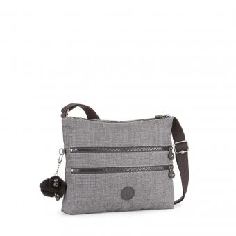 Kipling Alvar Basic Plus Schultertasche Cotton Grey