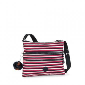 Kipling Alvar Basic Schultertasche Sugar Stripes