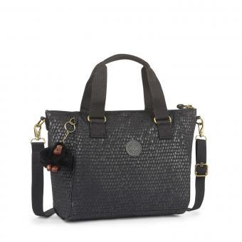 Kipling Amiel Handtasche Black Scale Emb