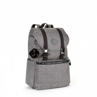 Kipling Experience Mittelgroßer Rucksack mit Laptopfach Cotton Grey