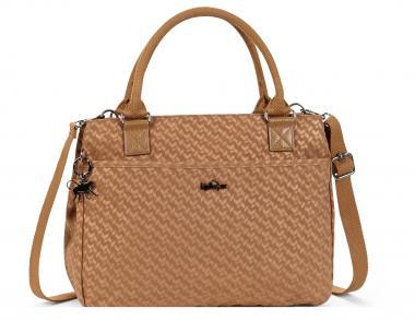 Kipling Caralisa Basic Plus Handtasche Camel Emb