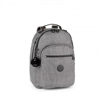 Kipling Clas Seoul Basic Plus Großer Rucksack Cotton Grey
