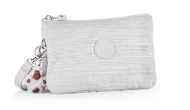 Kipling Creativity XL Extragroße Clutch mit Trageschlaufe Dazz Grey
