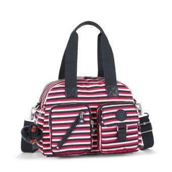 Kipling Defea Basic Mittelgroße Schultertasche Sugar Stripes