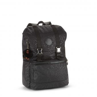 Kipling Experience Mittelgroßer Rucksack mit Laptopfach Black Scale Emb