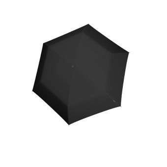 Knirps AS.050 Slim Small Manual Flacher Taschenschirm Black