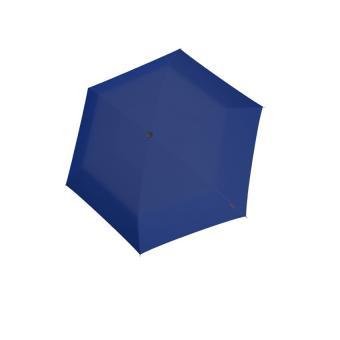 Knirps AS.050 Slim Small Manual Flacher Taschenschirm Blue