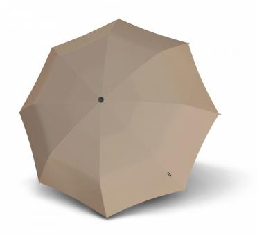 Knirps T.100 Small Duomatic Automatischer Taschenschirm mit UV-Schutz Taupe